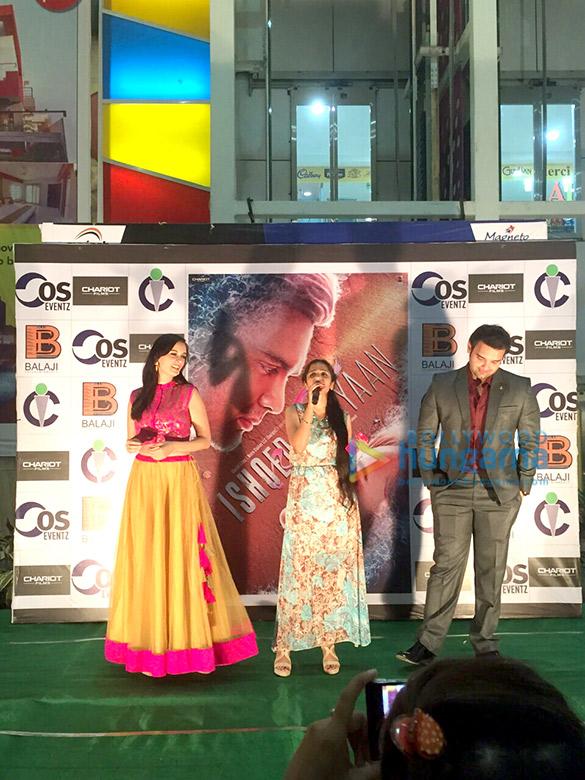 Mahaakshay Chakraborty and Evelyn Sharma promote 'Ishqedarriyaan' in Raipur