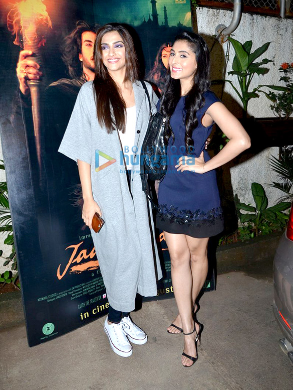 Sonam Kapoor, Dia Mirza and others at 'Jaanisaar' screening