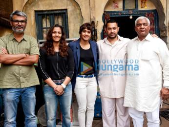Nitesh Tiwari, Geeta Phogat, Babita Phogat, Aamir Khan, Mahavir Singh Phogat