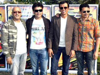 Photo Of Hriday Shetty,Ravi Kissen,Kay Kay Menon,Atul Kulkarni From The Press conference of 'Chaalis Chauraasi' in Indore