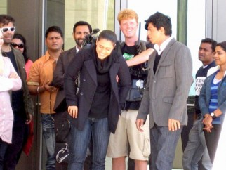 On The Sets Of The Film My Name is Khan Featuring Kajol,Shahrukh Khan