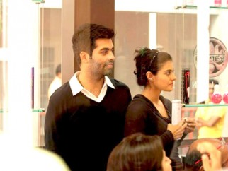 On The Sets Of The Film My Name is Khan Featuring Kajol,Karan Johar