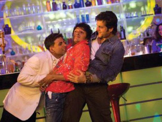 Movie Still From The Film Heyy Babyy,Akshay Kumar,Riteish Deshmukh,Fardeen Khan
