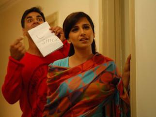 Movie Still From The Film Heyy Babyy,Akshay Kumar,Vidya Balan