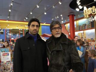 Movie Still From The Film Kabhi Alvida Naa Kehna,Abhishek Bachchan,Amitabh Bachchan