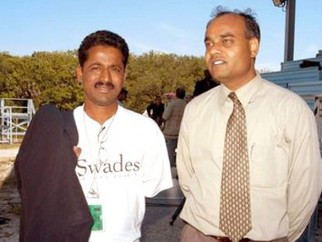 On The Sets Of The Film Swades Featuring