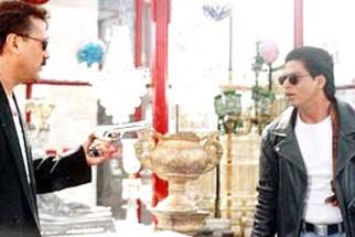 Movie Still From The Film One 2 Ka 4 Featuring Jackie Shroff,Shahrukh Khan