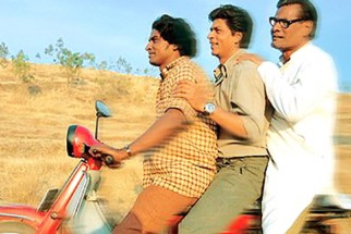Movie Still From The Film Swades Featuring Shahrukh Khan,Daya Shankar Pandey,Rajesh Vivek