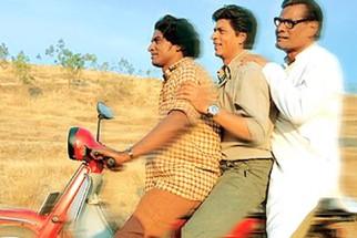 Movie Still From The Film Swades Featuring Shahrukh Khan,Daya Shankar Pandey,Rajesh Vivek