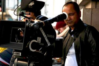 On The Sets Of The Film London Dreams Featuring