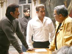 On The Sets Of The Film Yuvvraaj Featuring Salman Khan,Anil Kapoor,Zayed Khan,Subhash Ghai
