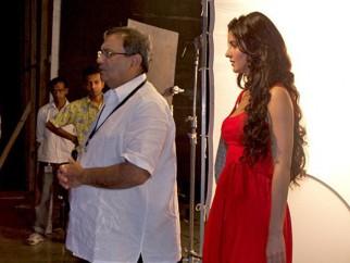 On The Sets Of The Film Yuvvraaj Featuring Katrina Kaif,Subhash Ghai