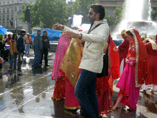 On The Sets Of The Film Salaam-E-Ishq Featuring Abhishek Bachchan