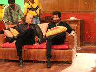 On The Sets Of The Film Welcome Featuring Feroz Khan,Anil Kapoor