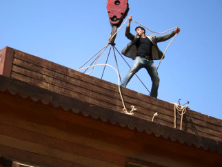 On The Sets Of The Film Welcome Featuring Akshay Kumar