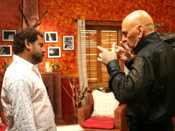 On The Sets Of The Film Welcome Featuring Feroz Khan