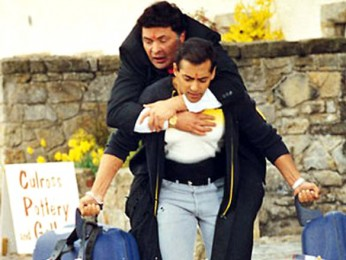 Movie Still From The Film Yeh Hai Jalwa Featuring Salman Khan,Rishi Kapoor