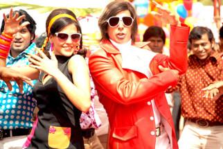 Movie Still From The Film Action Replayy,Neha Dhupia,Akshay Kumar