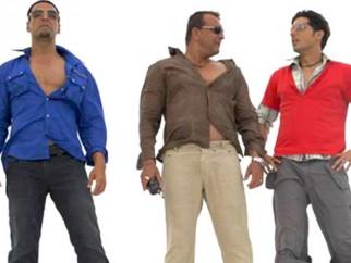 Movie Still From The Film Blue,Akshay Kumar,Sanjay Dutt,Zayed Khan