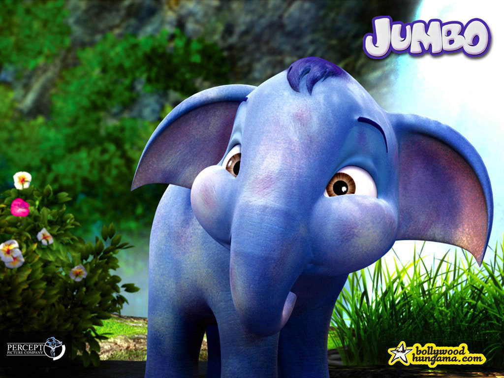 Elephant Blue Cartoon Hd Wallpaper | Safari Wallpapers