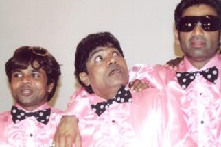 On The Sets Still From The Film Phir Hera Pheri Featuring Rajpal Yadav,Johny Lever,Sunil Shetty