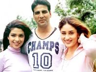 On The Sets Of The Film Aitraaz Featuring Akshay Kapoor,Priyanka Chopra,Kareena Kapoor