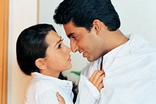 Movie Still From The Film Haan Maine Bhi Pyaar Kiya Featuring Karisma Kapoor,Abhishek Bachchan