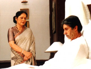 Movie Still From The Film Ek Rishtaa The Bond of Love Featuring Amitabh Bachchan,Raakhee