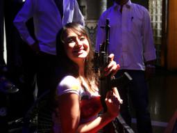 On The Sets Of The Film Dekho Yeh Hai Mumbai Real Life Featuring Sharat Saxena,Preeti Jhangiani