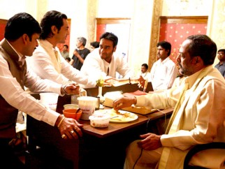 On The Sets Of The Film Raajneeti Featuring Arjun Rampal,Ajay Devgn,Nana Patekar