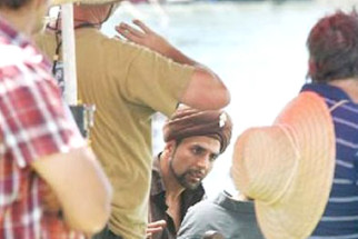 On The Sets Of The Film Singh Is King Featuring Akshay Kumar