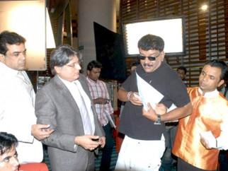 On The Sets Of The Film De Dana Dan Featuring Paresh Rawal,Rajpal Yadav