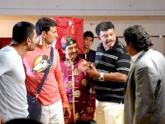 On The Sets Of The Film De Dana Dan Featuring Akshay Kumar