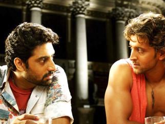 Movie Still From The Film Dhoom 2,Abhishek Bachchan,Hrithik Roshan