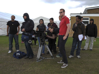On The Sets Of The Film 7 Welcome to London Featuring