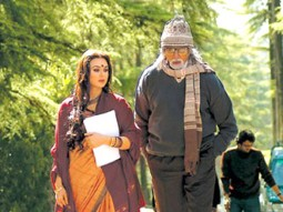 Movie Still From The Film The Last Lear Featuring Preity Zinta,Amitabh Bachchan