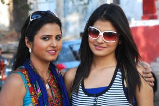 On The Sets Of The Film Tension Mat Le Yaar,Deepti Gautam,Subuhi