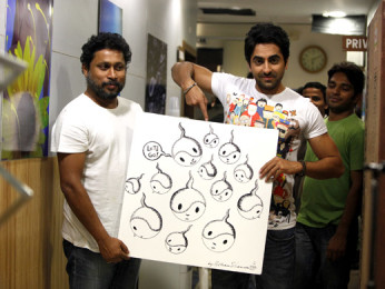 On The Sets Of The Film Vicky Donor,Shoojit Sircar,Ayushman Khurana