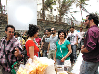 On The Sets Of The Film Fatso,Ranvir Shorey,Gul Panag,Rajat Kapoor