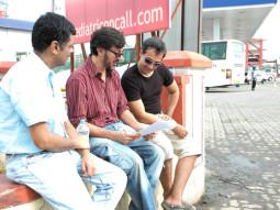 On The Sets Of The Film Fatso,Rajat Kapoor,Ranvir Shorey
