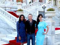 Photo Of Naomie Harris,Daniel Craig,Berenice Marlohe From The Skyfall's cast and crew arrive on location in Istanbul