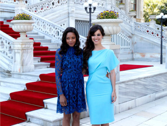 Photo Of Naomie Harris,Berenice Marlohe From The Skyfall's cast and crew arrive on location in Istanbul