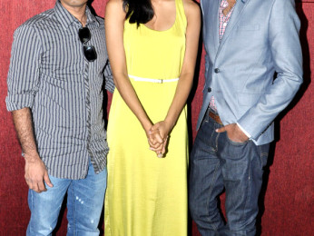Photo Of Chandra Pemmaraju,Melanie Kannokada,Lavrenti Lopes From The Press conference of 'Love Lies & Seeta'