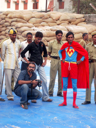 On The Sets Of The Film Malegaon Ka Superrman Featuring