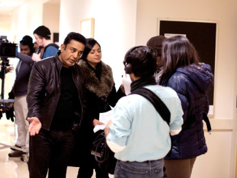 On The Sets Of The Film Vishwaroop Featuring Kamal Haasan,Pooja Kumar,Shekhar Kapur,Rahul Bose,Andrea Jeremiah,Jaideep Ahlawat,Nasser,Zarina Wahab