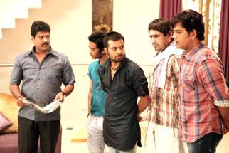 Movie Still From The Film Jeena Hai Toh Thok Daal,Ganesh Yadav,Rahul Kumar,Manish Vatsalya,Yashpal Sharma,Ravi Kissen