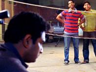 Movie Still From The Film Shuttlecock Boys,Aakar Kaushik,Manish Nawani,Alok Kumar