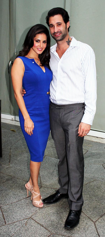 Sunny Leone & Daniel Weber snapped promoting 'Jism – 2'