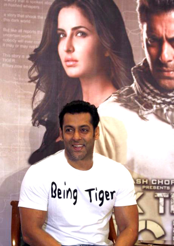 Salman Khan promotes 'Ek Tha Tiger' in New Delhi
