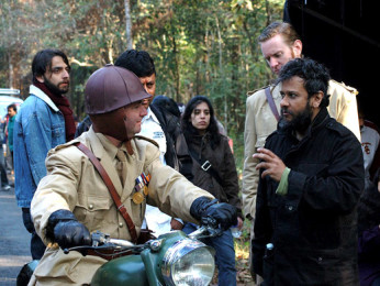 On The Sets Of The Film Chittagong,Bedabrata Pain,Alexx ONeil